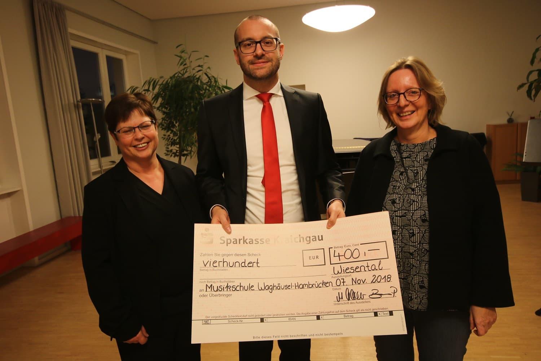 Sparkasse Kraichgau unterstützt Musikschule beim hausinternen Wettbewerb